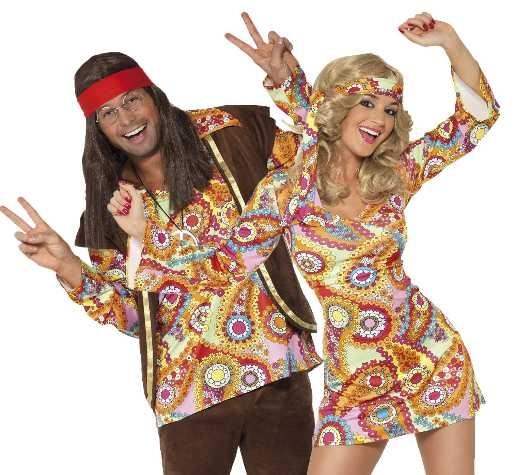 thème de soirée déguisée hippie baba cool