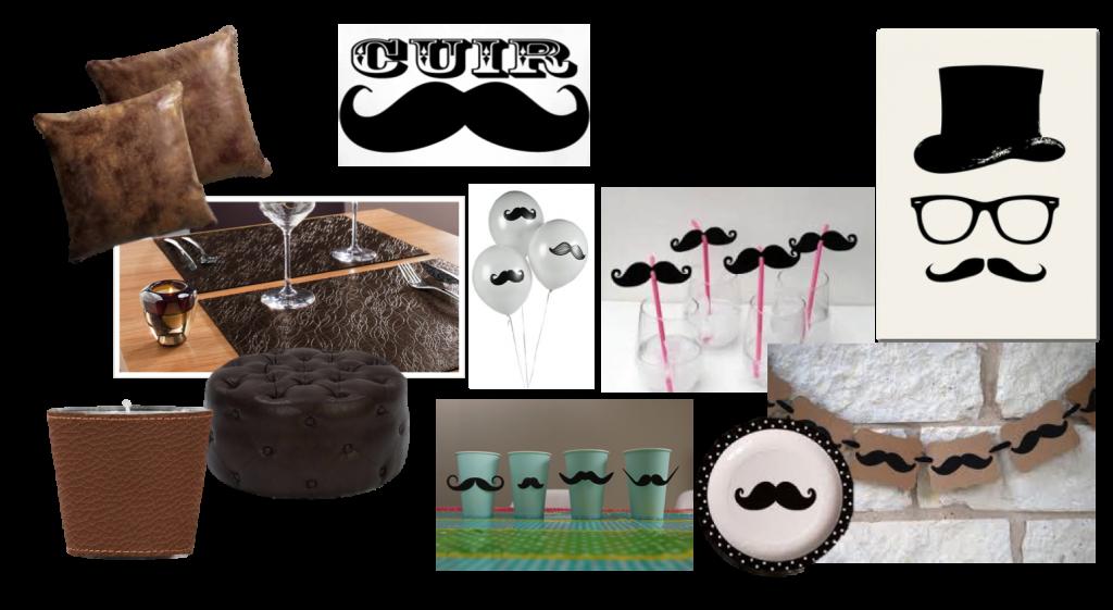 soir e cuir moustache th me de soir e. Black Bedroom Furniture Sets. Home Design Ideas