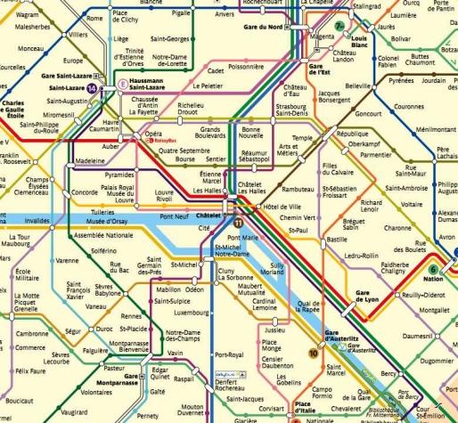 Thème de soirée déguisée stations de métro